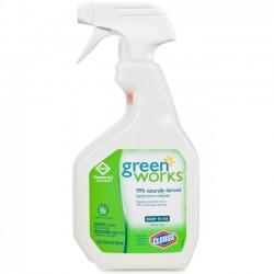 Clorox - 00452 - Green Works Bathroom Cleaner - Spray - 0.19 gal (24 fl oz) - 1 Each - White