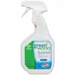 Clorox - 00459 - Green Works Glass & Surface Cleaner - Spray - 0.25 gal (32 fl oz) - Original Scent - 1 Each - Clear