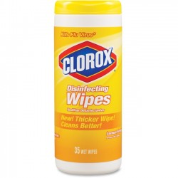 Clorox - 01594EA - Clorox Disinfecting Wipe - Wipe - Citrus Blend Scent - 8 Width x 7 Length - 35 - 35 / Each - Yellow