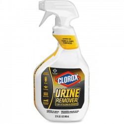 Clorox - 31036CT - Clorox Urine Remover for Stains and Odors - Spray - 0.25 gal (32 fl oz) - 9 / Carton - White