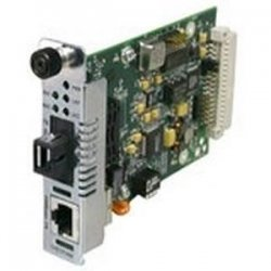 Transition Networks - CFETF1011-205 - Transition Networks Fast Ethernet Point System Slide-In-Module Media Converter - 1 x RJ-45 , 1 x ST Duplex - 100Base-TX, 100Base-FX