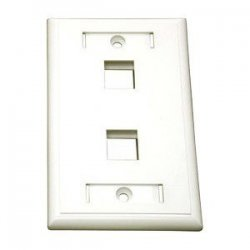 C2G (Cables To Go) - 03411 - C2G 2-Port Single Gang Multimedia Keystone Wall Plate - White - 2 x Socket(s) - White