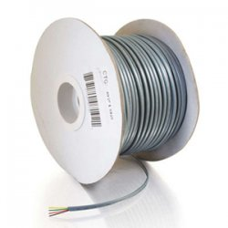 C2G (Cables To Go) - 07192 - C2G 500ft 28 AWG 4-Conductor Silver Satin Modular Cable Reel - 500ft - Silver