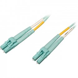 Tripp Lite - N820-03M-OM4 - Tripp Lite 10Gb/100Gb Duplex Multimode 50/125 OM4 - LSZH Fiber Patch Cable (LC/LC) - Aqua, 3M (10-ft.)