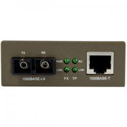 StarTech - MCMGBSC15 - StarTech.com 1000 Mbps Gigabit Single-Mode Fiber Ethernet Media Converter SC 15km - 1 x RJ-45