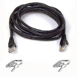 Belkin / Linksys - A3L980-08-BLK-S - Belkin Cat. 6 UTP Patch Cable - RJ-45 Male - RJ-45 Male - 8ft - Black