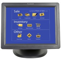 "Planar Systems - 997-3981-00 - Planar PT1500MX Touchscreen LCD Monitor - 15"" - 5-wire Resistive - 1024 x 768 - 4:3 - 0.3mm - Black"