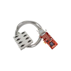 Comtrol - 30140-0 - Comtrol RocketPort 30140-0 8-port Multiport Serial Adapter - PCI Express x1 - 8 x DB-9 Female RS-422 Serial Via Ports Module - Plug-in Card - DB-9 Female