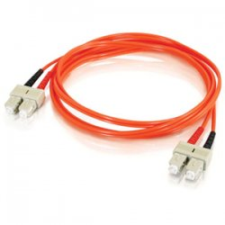 C2G (Cables To Go) - 20535 - 30m SC-SC 62.5/125 OM1 Duplex Multimode PVC Fiber Optic Cable - Orange - Fiber Optic for Network Device - SC Male - SC Male - 62.5/125 - Duplex Multimode - OM1 - 30m - Orange