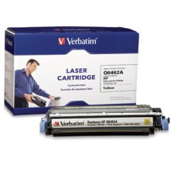 Verbatim / Smartdisk - 96762 - Verbatim Remanufactured Laser Toner Cartridge alternative for HP Q6462A Yellow - Laser - 12000 Page - Yellow