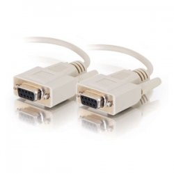 C2G (Cables To Go) - 02694 - C2G 6ft DB9 F/F Cable - Beige - DB-9 Female - DB-9 Female - 6ft - White