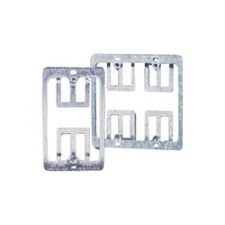 C2G (Cables To Go) - 03784 - C2G Single Gang Wall Plate Mounting Bracket - Silver