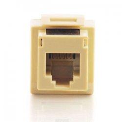 C2G (Cables To Go) - 03800 - C2G Cat3 RJ12 Keystone Jack - Ivory - RJ-12, 110