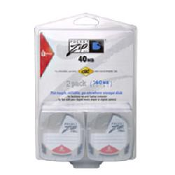 Iomega - 31529 - 2 X Pocketzip 40 Mb Pc Storage Media