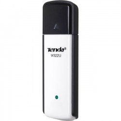Tenda Technology - W322U - Tenda W322U Wireless N300 USB Adapter - USB - 300 Mbit/s - 2.40 GHz ISM - External