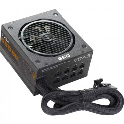 EVGA - 110-BQ-0650-V1 - EVGA 650 BQ Power Supply - ATX12V/EPS12V - 120 V AC, 230 V AC Input Voltage - 3.3 V DC, 5 V DC, 12 V DC, 12 V DC, 5 V DC Output Voltage - 1 Fans - Internal - Modular - 650 W