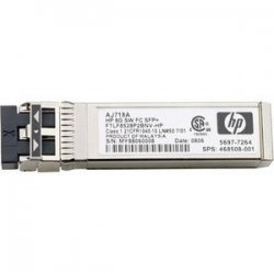Hewlett Packard (HP) - AJ718A - HP StorageWorks SFP Module - For Data Networking, Optical Network 1 Fiber Channel Network - Optical Fiber8 Gigabit Ethernet - Fiber Channel - 8