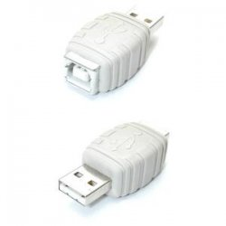 StarTech - GCUSBABMF - StarTech.com USB A to USB B Gender Changer M/F - 1 x Type B Female - 1 x Type A Male - White