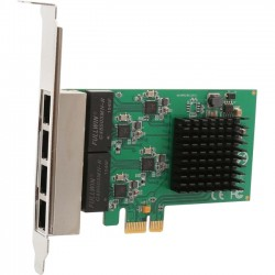 SYBA Multimedia - SI-PEX24042 - SYBA 4 Port Gigabit Ethernet PCI-e x1 Network Interface Card - PCI Express 1.1 - 4 Port(s) - 4 - Twisted Pair