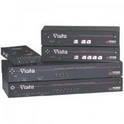 Rose Electronics - KVL-8PCA - Rose Electronics Vista L 8-Port KVM Switch - 8 x 1 - 8 x mini-DIN (PS/2) Keyboard, 8 x mini-DIN (PS/2) Mouse, 8 x HD-15 Monitor - 1U - Rack-mountable