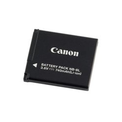 Canon - 4267B001 - Canon NB-8L Digital Camera Battery - 740 mAh - Lithium Ion (Li-Ion) - 3.6 V DC