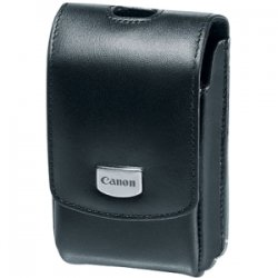 Canon - 4854B001 - Canon Deluxe PSC-3200 Carrying Case for Camera - Black - Leather - Waist Strap