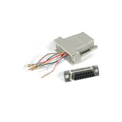 C2G (Cables To Go) - 02925 - C2G RJ45 to DB15 Female Modular Adapter - 1 x DB-15 Female - 1 x RJ-45 - Gray