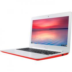 "Asus - C300SA-DH02-RD - Asus Chromebook C300SA-DH02-RD 13.3"" LCD Chromebook - Intel Celeron N3060 Dual-core (2 Core) 1.60 GHz - 4 GB LPDDR3 - 16 GB Flash Memory - Chrome OS - 1366 x 768 - Red - Intel HD Graphics 400 LPDDR3 - Bluetooth - Front"