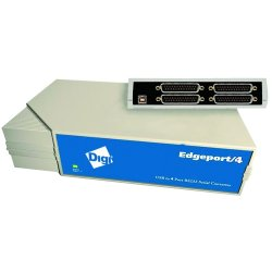 Digi International - 301-1000-04 - Digi Edgeport/4 Multiport Serial Adapter - 4 x DB-9 Serial - External Hot-swappable