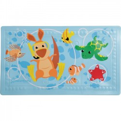 Dreambaby - L679 - Dreambaby Anti-Slip Bath Mat with Too Hot Indicator - Animals - Bath Mat - Heat Indicator - Prevents Slipping in the Bath Tub - Easy to Clean - Suction Cup to Firmly Secure Mat