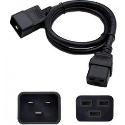 AddOn - ADD-C192C2016AWG3FT - AddOn 91cm (3ft) C20 to C19 16AWG 100-250V Computer Power Cable - 100% compatible and guaranteed to work