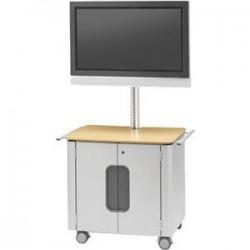 Bretford - FPPC72V200-PMSG - Bretford FPPC72V200-PMMP Flat Panel Cart - 100 lb Capacity - Steel - Platinum, Maple