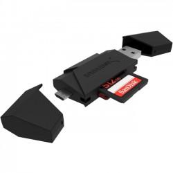 Sabrent - CR-UMMB-PK100 - Sabrent CR-UMMB Flash Reader - 2-in-1 - SD, SDHC, SDXC, MultiMediaCard (MMC), microSD, TransFlash, microSDHC, microSDXC, miniSD - USB 3.0 Type A, Micro USBExternal - 100 Pack