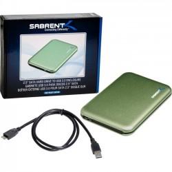 Sabrent - EC-RDGN-PK20 - Sabrent EC-RDGN Drive Enclosure External - Green - 1 x Total Bay - 1 x 2.5 Bay - Serial ATA/300 - USB 3.0 - Aluminum