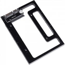 Sabrent - BK-PCBS-PK50 - Sabrent BK-PCBS Drive Bay Adapter Internal - Black - 1 x Total Bay - 1 x 2.5 Bay - Serial ATA/600 - Serial ATA/600 - Aluminum - 3.5