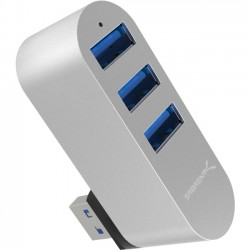 Sabrent - HB-R3MC-PK50 - Sabrent Premium 3-Port Aluminum Mini USB 3.0 Rotatable Hub [90 /180 Degree Rotatable] - USB - External - 3 USB Port(s) - 3 USB 3.0 Port(s) - Mac, PC, Linux
