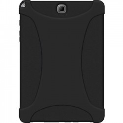 Amzer - AMZ97792 - Amzer Rugged Silicone Skin Jelly Case for Samsung Galaxy Tab A 9.7 - Black - Tablet - Black - Textured - Silicone