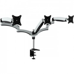Amer Networks - HYDRA3 - Amer Mounts Triple Monitor Mount with Articulating Arms - HYDRA 3 arm articulating monitor mount with desk clamp