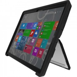 Gumdrop Cases - DT-MS3-BLK_BLK - Gumdrop DropTech Case for Microsoft Surface 3 - Tablet PC - Black - Silicone