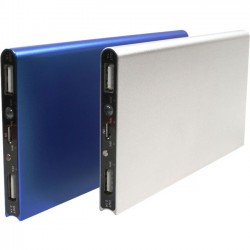 Astrotek Integration / WISO - IMOJO8600S - Idol Memory iMojo Power Bank - 8000 mAh - 2 x - Silver