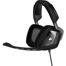 Corsair - CA-9011130-NA - Corsair VOID USB Dolby 7.1 Gaming Headset - Carbon - USB - Wired - 32 Ohm - 20 Hz - 20 kHz - Over-the-head - Binaural - Circumaural - 5.91 ft Cable - Noise Canceling