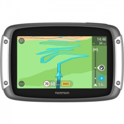 TomTom - 1GE005200 - TomTom RIDER RIDER 400 Motorcycle GPS Navigator - Mountable - 4.3 - Touchscreen - microSD - Bluetooth - USB - 6 Hour - Lifetime Map Updates - Lifetime Traffic Updates - 480 x 272