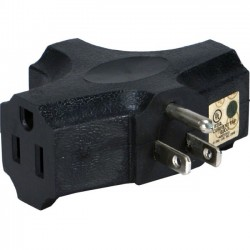 QVS - PA-3P-4PK - QVS 4-Pack 3-Outlets Space-Saver Grounded Power Outlet Splitter - 3P, 3P - 125 V AC / 15 A