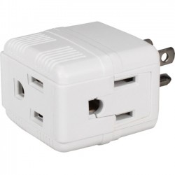QVS - PA-3PC-12PK - QVS 12-Pack 3-Outlets Compact Space-Saver Grounded Power Outlet Splitter - 3P, 3P