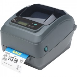 "Zebra Technologies - GX42-102412-150 - Zebra GX420t Direct Thermal/Thermal Transfer Printer - Monochrome - Desktop - Label Print - 4.09"" Print Width - 6 in/s Mono - 203 dpi - 8 MB - USB - Serial - Parallel - Ethernet - 4.25"" Label Width - 39"" Label Length"