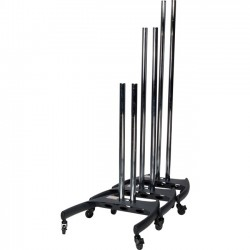 Premier Mounts - BW-BASE - Premier Mounts Dual Pole Cart Base with Nesting Capability and PSD-HDCA Mount Adapter - 27.7 Width x 27.9 Depth x 7.6 Height - Black