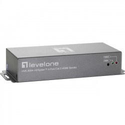CP Tech / Level One - HVE-9004 - LevelOne HVE-9004 Video Extender - 4 Input DeviceNetwork (RJ-45)HDMI In - Twisted Pair - Category 5