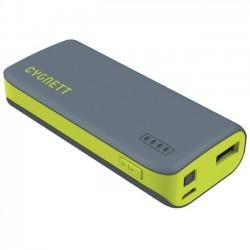 Cygnett - CY1443PBCHE - Cygnett ChargeUp Sport 4400 - Grey & Green - For Smartphone - Lithium Ion (Li-Ion) - 4400 mAh - 1 A - 5 V DC Output - 5 V DC Input - Gray, Green