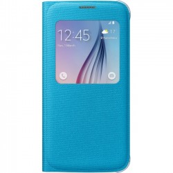 Samsung - EF-CG920BLEGUS - Samsung S-View Carrying Case (Flip) for Smartphone - Blue - Polyester