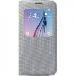 Samsung - EF-CG920BSEGUS - Samsung S-View Carrying Case (Flip) for Smartphone - Silver - Polyester